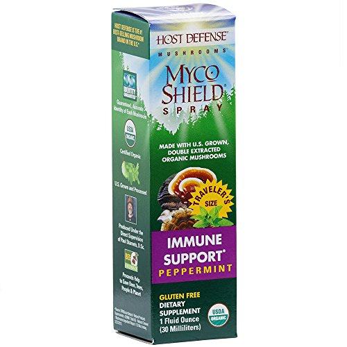 Host Defense - MycoShield Spray, Multi Mushroom Support for Immune Response, Peppermint, 71 Servings (1 oz) (Immune Health Spray)