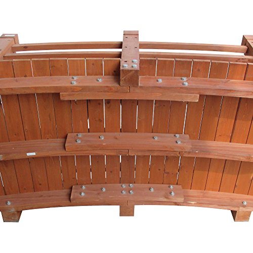 5-Ft. Long Wooden Decorative Garden Bridge by Consumer Sales Network (Image #5)
