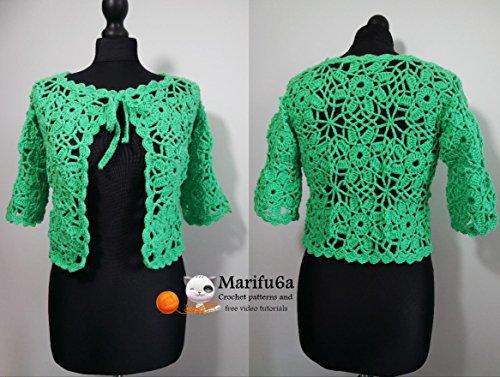 Crochet Jacket Bolero With Motifs All Sizes Pattern Pdf 157 Crochet