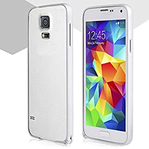 ABC(TM) Luxury Slim Metal Aluminum Frame Bumper Case Cover For Samsung Galaxy S5 i9600 (Silver)