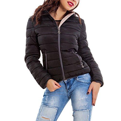 Nero Nero Nero caldo Toocool Toocool Toocool imbottito giacca 6602 zip JK giubbotto nuovo cappuccio Piumino donna qqZFg