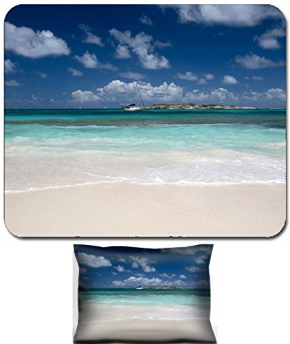 Luxlady Mouse Wrist Rest And Small Mousepad Set  2Pc Wrist Support Design Image  41813287 Orient Bay Is A Coastal Community And Beach On The French Side Of The Island Of Saint Martin In The Caribbean