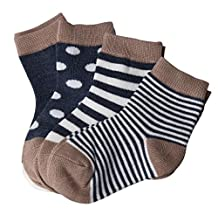 Baby Socks, Nicerokaka Different Colors Newborn Socks, 4 Pairs