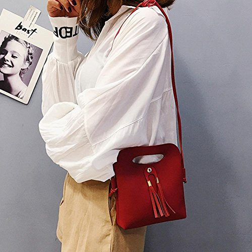 Sintética para Bolso hombro de Red Widewing mujer al Piel d4PqXnYw