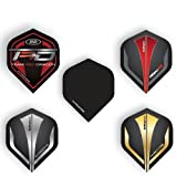 Hardcore Assorted Selection Pack Extra Thick Standard Dart Flights - 5 sets Per Pack (15 Dart Flights in total) & Red Dragon Checkout Card