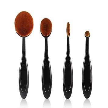 MUANI Forma 4pcs/Set Cepillo de dientes Kit de cejas Fundación brocha para polvos de maquillaje: Amazon.es: Belleza