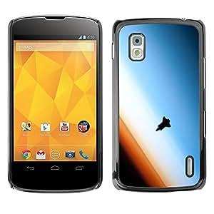 Be Good Phone Accessory // Dura Cáscara cubierta Protectora Caso Carcasa Funda de Protección para LG Google Nexus 4 E960 // Flying Rocket