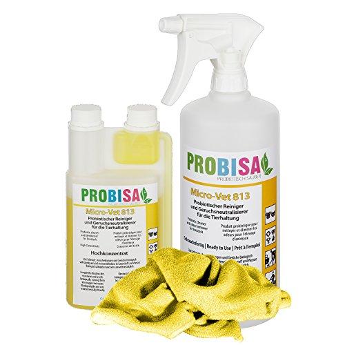 Geruchsneutralisierer Spray gegen Gerüche von Katzen-Urin, Hund, Nager und Haustiere (Set – Konzentrat ergibt 25 Liter…