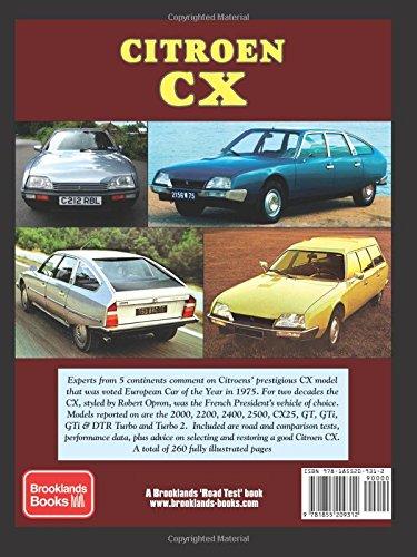 Citroen CX: A Brooklands Road Test Portfolio Brooklands Portfolio: Amazon.es: R. M. Clarke: Libros en idiomas extranjeros