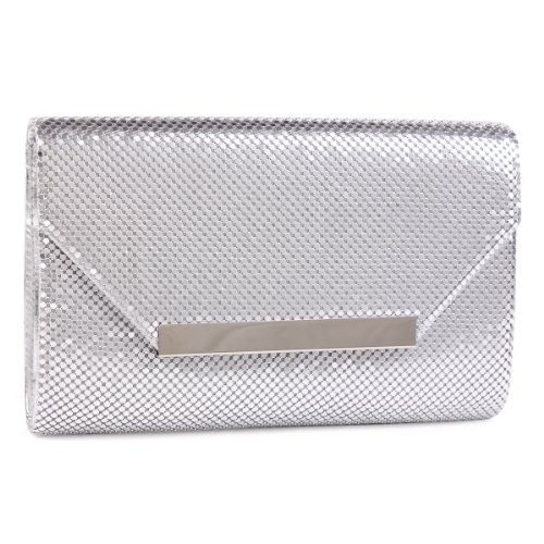 Silver Leather Bag - 6
