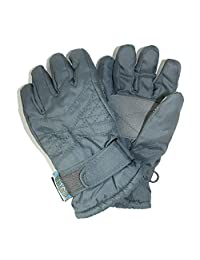 CTM® Toddlers Thinsulate Lined Water Resistant Winter Gloves, Grey