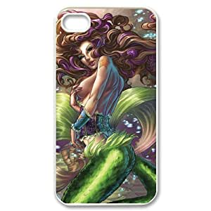 Iphone 4,4S Little mermaid Phone Back Case DIY Art Print Design Hard Shell Protection MN064385 Kimberly Kurzendoerfer