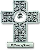 Cathedral Art SQP309 25 Years of Love Anniversary Cross, 3-Inch High