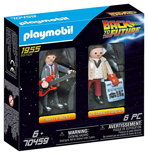 PLAYMOBIL Regreso Dos Figuras Back to The Future Marty Mcfly y Dr Emmett Brown (70459), Multicolor, unica