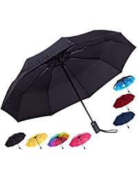 Compact Travel Umbrella - Windproof, Reinforced Canopy, Ergonomic Handle, Auto Open/Close Multiple Colors