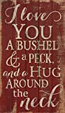 Cheap P. GRAHAM DUNN I Love You a Bushel and a Peck Distressed Red 24 x 14 Wood Pallet Design Wall Art Sign