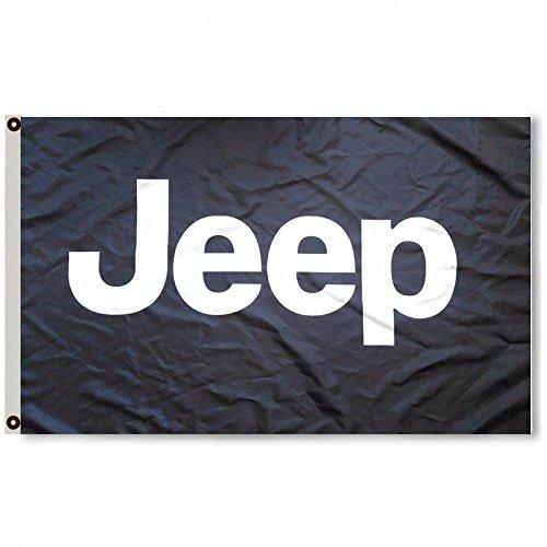 2But Jeep Black Flag Banner 3X5FT Wrangler Cherokee WAGGONNE