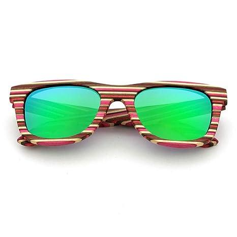 JKHOIUH Gafas de Sol polarizadas de Madera de bambú, Gafas ...