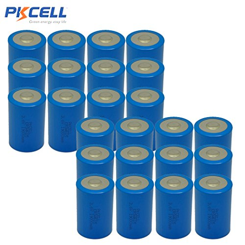 D Cell ER34615 3.6v Lithium Battery With High Capacity 19000mAh (24pc) by PK Cell