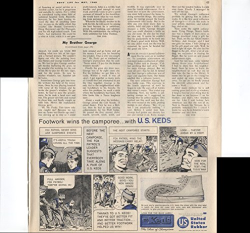 United States Rubber Look For The Blue Label Keds Footwork Wins The Camporee With U.S. Keds Boy Scouts 1960 Vintage Antique Advertisement