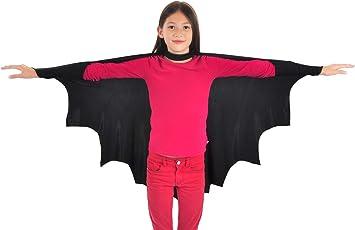 CoolChange Disfraz de murciélago, Capa para niños, Talla: 110 ...