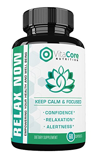 VitaCore Relax Now Supplement - Promotes Relaxation & Calmness, Eliminates Stress & Anxiety, Natural & Healthy Botanical Ingredients For Maximum Rejuvenation & Confidence