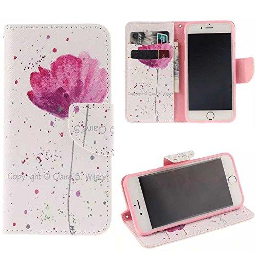 """Coloré Motif PU Cuir portefeuille Housse Etui pour Apple iPhone 6s Plus / iPhone 6 Plus 5.5"""" Case Coque Effacer Protection Flip Cover avec carte de crédit Slots (T15#)"""