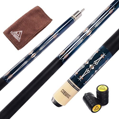 CUESOUL 58 Inch Maple Pool Cue Stick with Cue Joint Protector