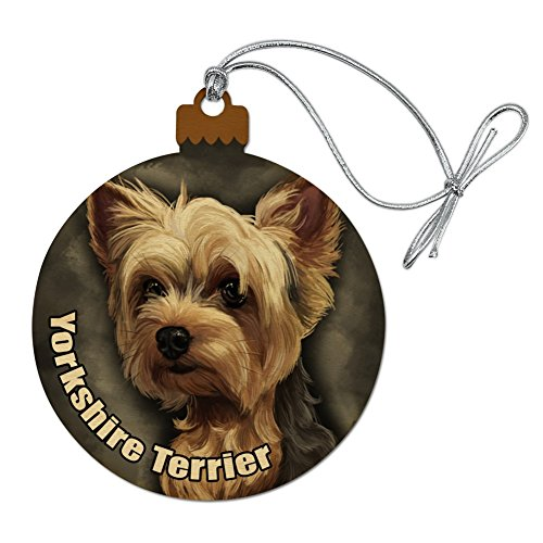 GRAPHICS & MORE Yorkshire Terrier Yorkie Dog Pet Wood Christmas Tree Holiday Ornament