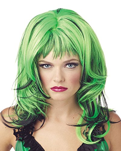 Summitfashions St Patrick's Day Wig Green - Red - Blue or Pink Color: - Day Wig Patricks