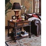 preston end table - Hooker Furniture Preston Ridge Lamp Table in Cherry/Mahogany Finish