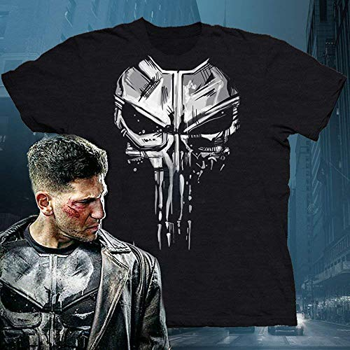 af38d58263c9f Amazon.com  Punisher Men s New Skull Graphic T-shirt Daredevil Tee Netflix Marvel  Shirt  Handmade