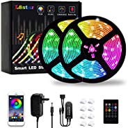 LED Light Strip, L8star Color Changing RGB Rope Lights 5050 Light Strips Sync with Music Remote Control Apply