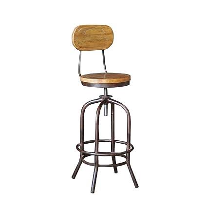 amazon com xewng iron wood bar stool seat height adjustable retro