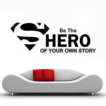 Buy Impression Pvc Vinyl Superman Hero Design Wall Sticker Cover