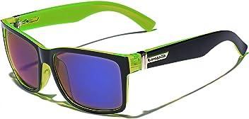 6501d049e87 Biohazard. Square Retro 80 s Sunglasses with Color Mirror Lenses