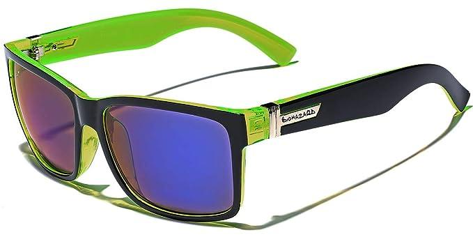 d592e08f968 Amazon.com  Square Retro 80 s Sunglasses LIME  Home   Kitchen