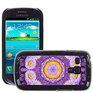Hot Style Cell Phone PC Hard Case Cover // M00152523 Background Floral Flower Purple // Samsung Galaxy S3 MINI i8190