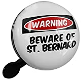 Small Bike Bell Beware of the St. Bernard Dog from Italy, Switzerland - NEONBLOND