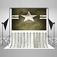 Kate Photo Background Army Star Wooden Cloth Photo Props Backdrop for Pictures 5×7ft