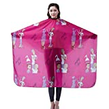 Salon Professional Hair Styling Cape, Colorfulife® Cartoon Adult Hair Cutting Coloring Styling Waterproof Cape Hairdresser Wai Cloth Barber Gown Home Camps & Hairdressing Wrap Capes K003 (Hot Pink)