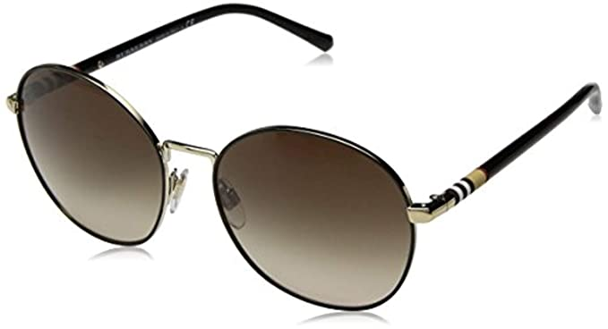 0b0a77083dbe Burberry BE3094 12587I Gold BE3094 Round Sunglasses Lens Category 1 Size  56mm