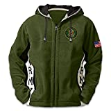 U.S. Army Hoodie: Men's Green Hooded Fleece Jacket: XLarge by The Bradford Exchange
