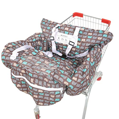 Learn More About SDADI 2-in-1 Shopping Cart Cover, High Chair Cover for Baby and Toddler, Unisex for Boy or Girl, Carry Bag Attached, Brown