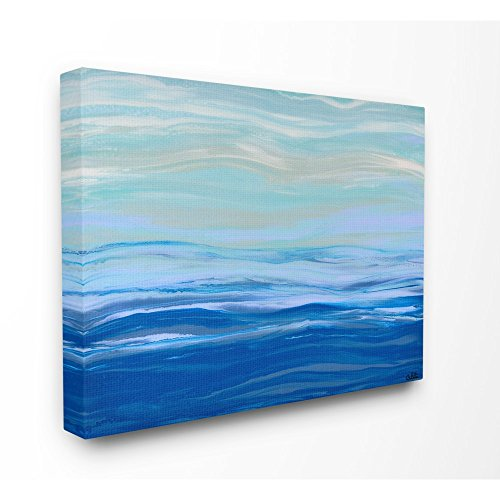 The Stupell Home Decor Collection Acrylic Resin Morning Ocean Gentle Abstract Stretched Canvas Wall Art 24x30 Multicolor