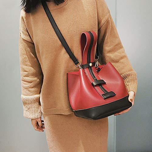 Mode À Femmes Bandoulière Deux Ihaza Sac Set Tote Messenger Bag Main Zipper Rouge qgXRpdw
