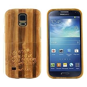 Boho Tronics ® Bohobamboocases Natural Handmade Hardwood Bamboo Inverse Confucius Quote Case for Samsung Galaxy S5 i9600