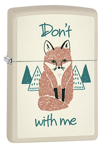 (Zippo Fox with Me Cream Matte Lighter)