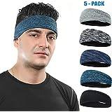 COOLOO Mens Headband 2 Pack Guys Sweatband,...
