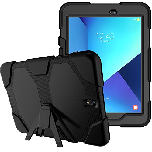 Samsung Galaxy Tab A 10.1 Case Cover, Kickstand Armor Rugged Sturdy Shockproof Heavy Duty Protective Cover for Galaxy Tab A 10.1 inch Wifi Tablet SM-T580NZKAXAR (Black)